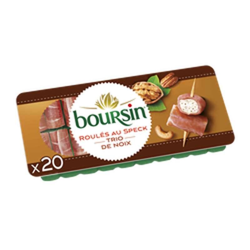 Fromage apéritif roulé au speck et trio de noix, Boursin (x 20, 100 g)