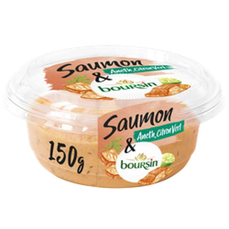 Tartinable saumon, aneth et citron vert, Boursin (150 g)