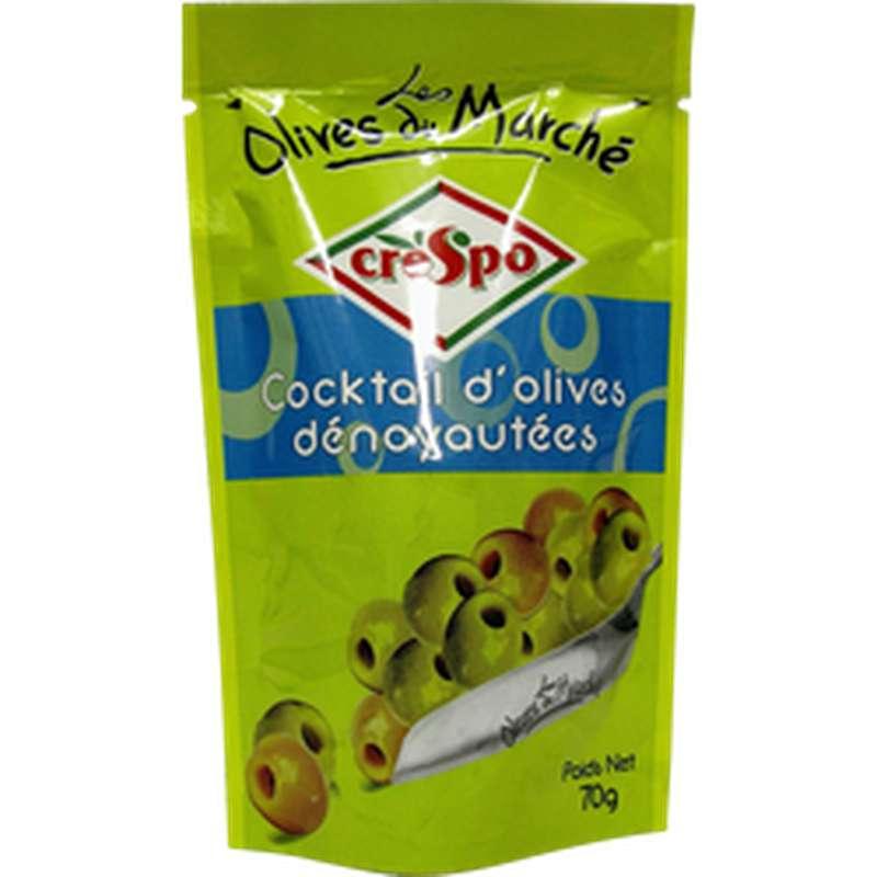 Cocktail d'olives dénoyautés Doux, Crespo (70 g)