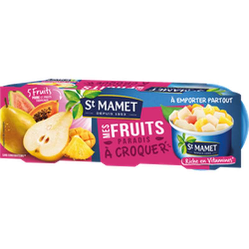 Mes fruits à croquer au sirop, St Mamet (x 3, 240 g)