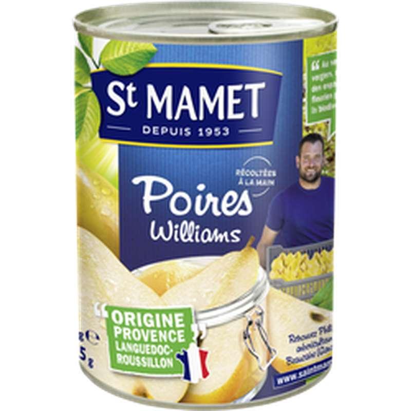 Poires william's au sirop, Saint Mamet (235 g)