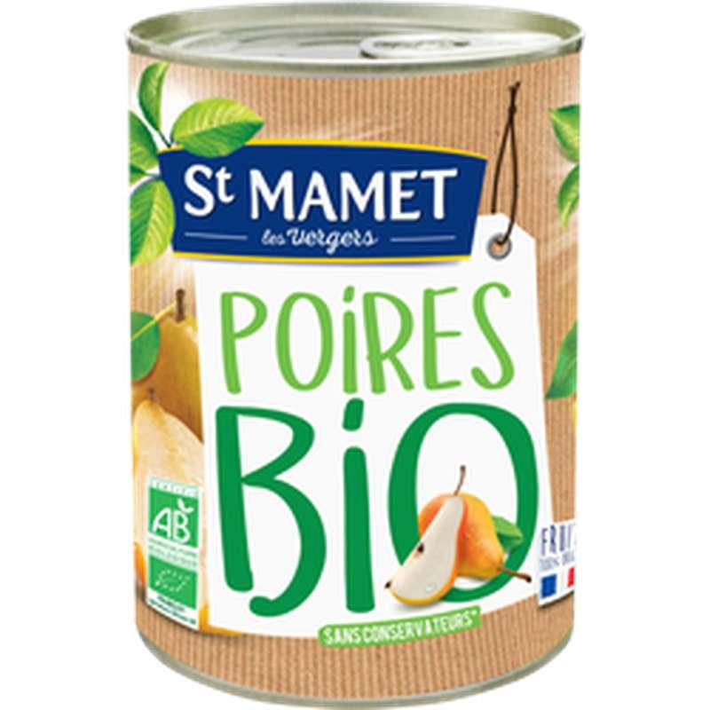 Poires William's au sirop BIO, St Mamet (225 g)
