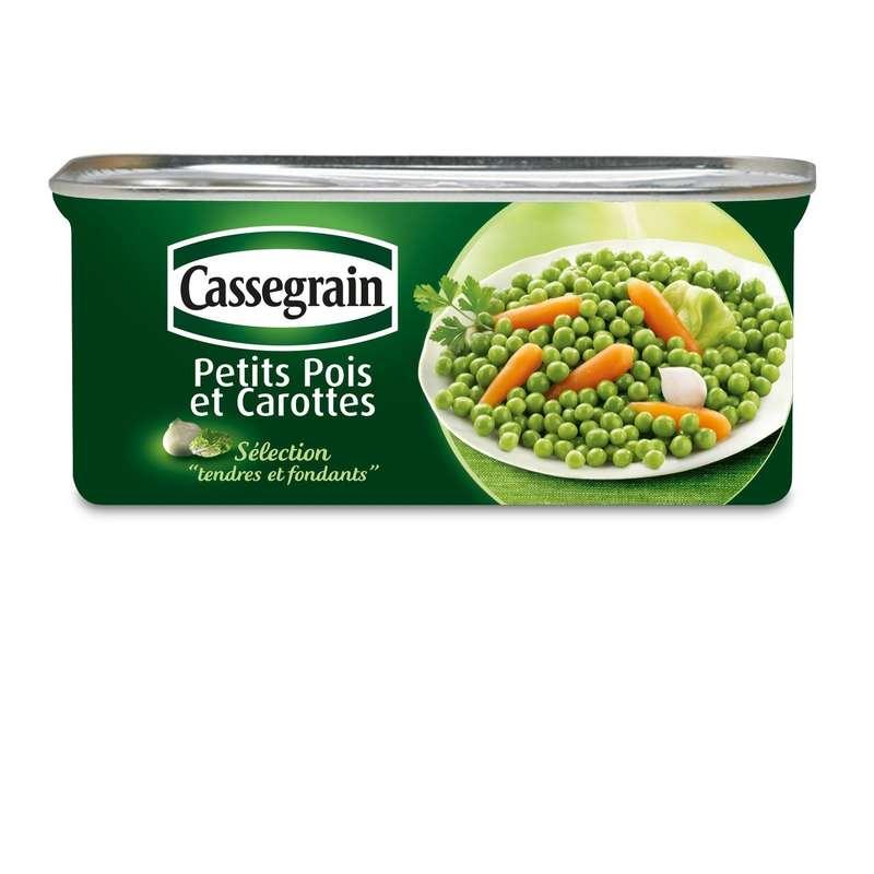 Petits pois carottes, Cassegrain (130 g)