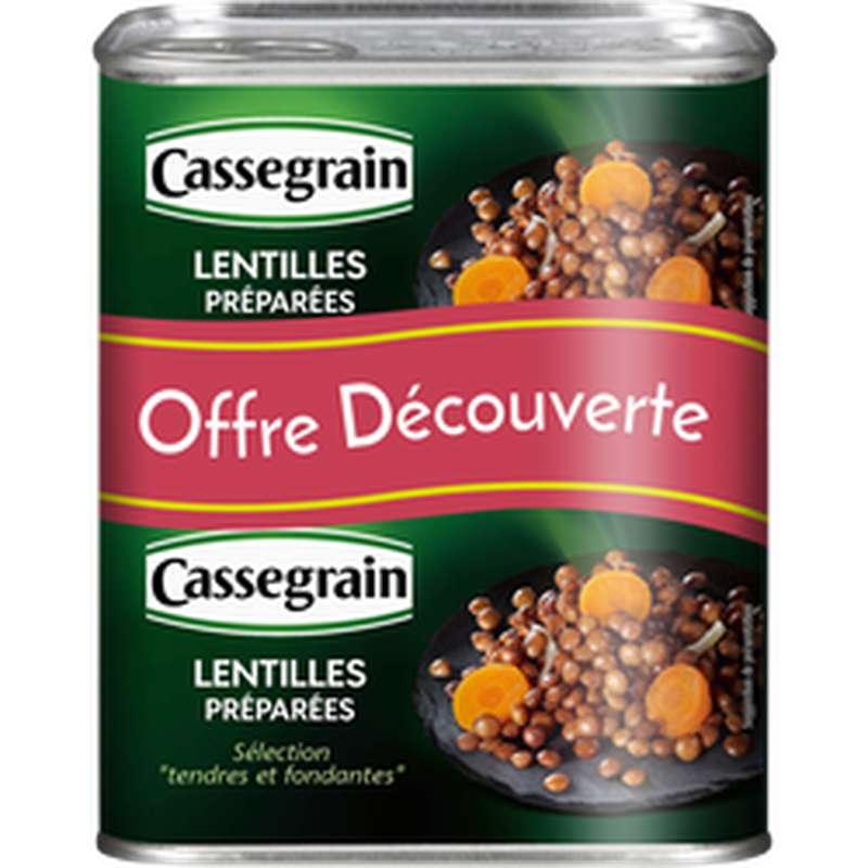 Lentilles cuisinées aux oignons et carottes, Cassegrain (2 x 265 g)