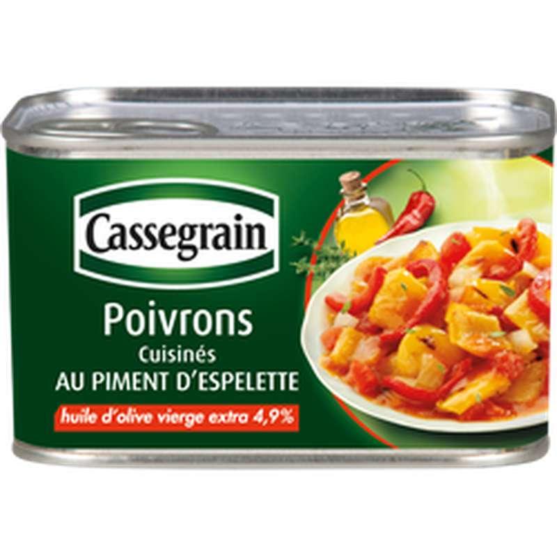 Poivrons cuisinés au piment d'Espelette, Cassegrain (375 g)