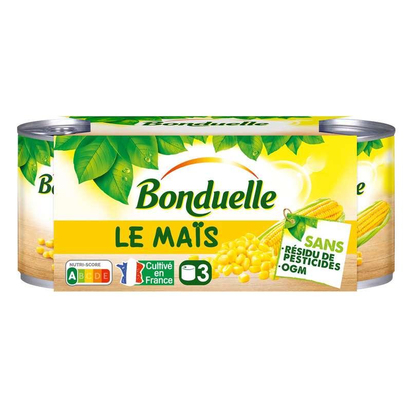 Maïs sans résidu, Bonduelle (x3, 420 g)