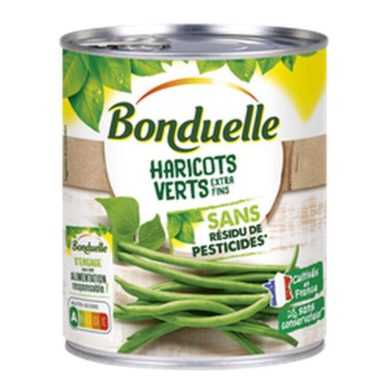 Haricots verts extra fins sans résidus de pesticides, Bonduelle (440 g)