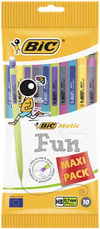 Porte-mines Maxi Pack Matic Fun, BIC Combos (0,7 mm, x 10)