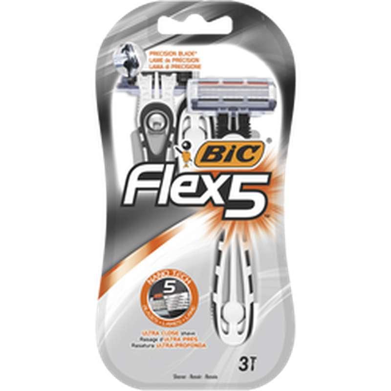 Rasoirs pour homme Flex5, Bic (x 3)