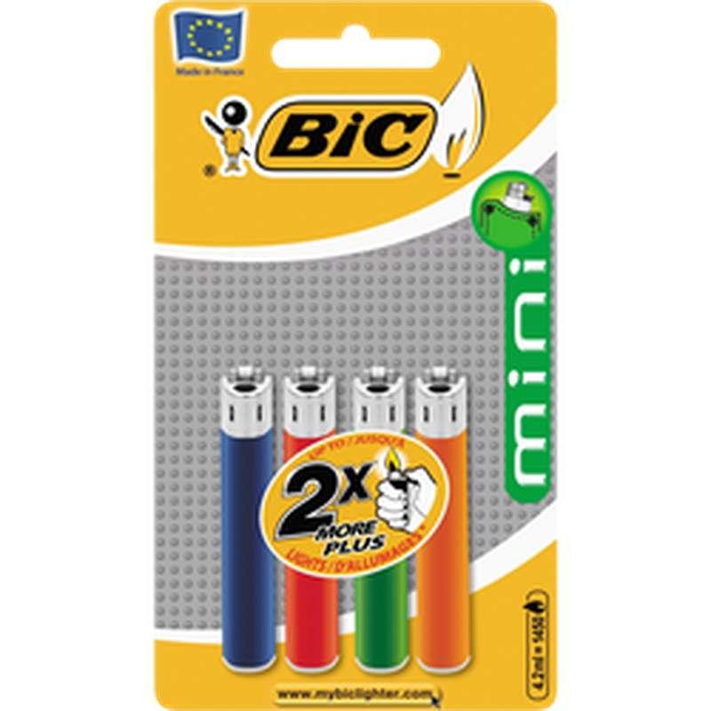 Briquets Mini-standard J25 sous blister, Bic (x 4)
