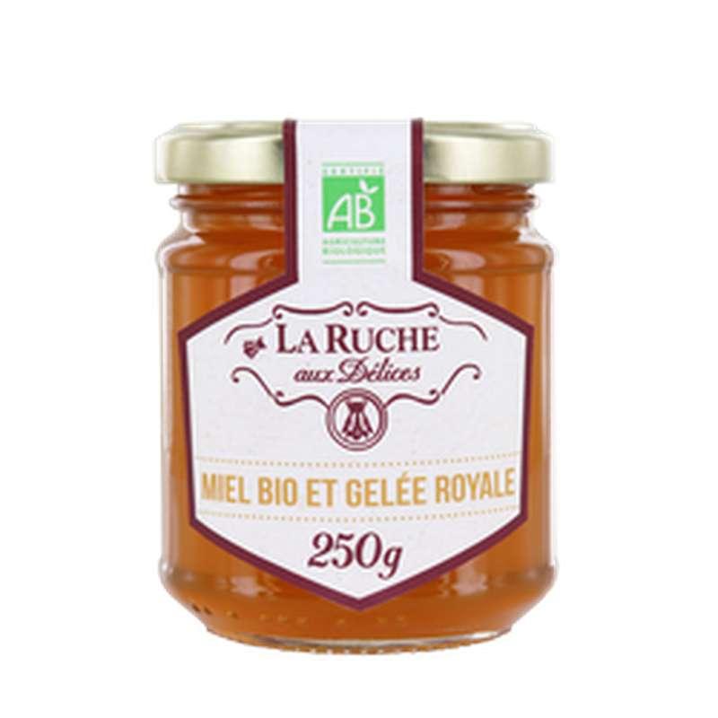 Miel et gelée royale BIO, La ruche aux délices (250 g)