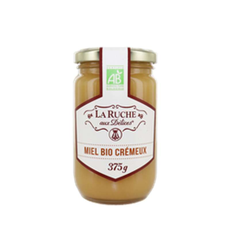 Miel crémeux BIO, La ruche aux délices (375 g)
