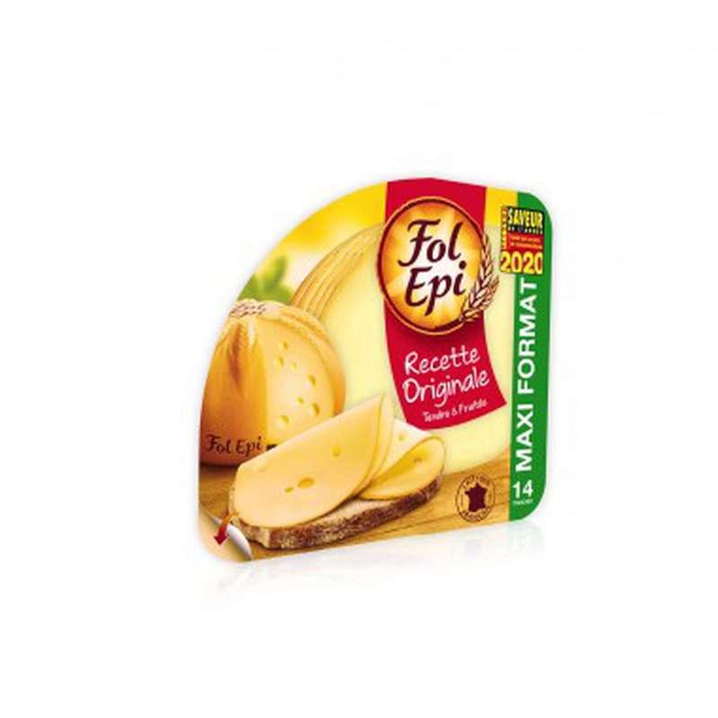 Fromage tendre et fruité, Fol Epi (14 + 2 tranches offertes, 308 g)