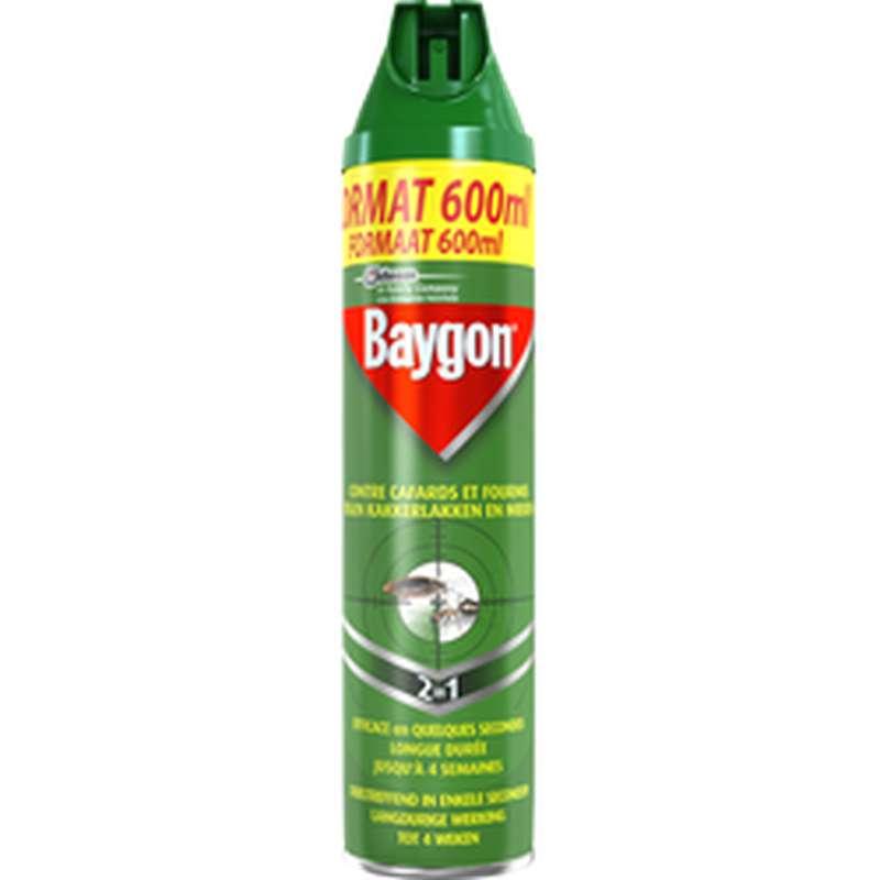 Spray insecticide anti-cafards et fourmis, Baygon (600 ml)