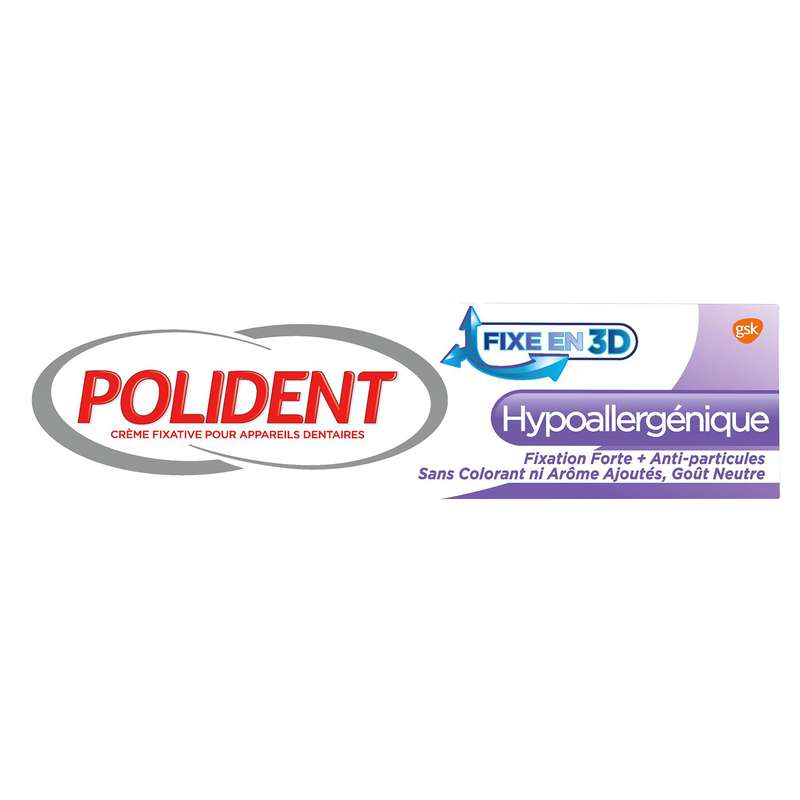 Crème adhésive appareil dentaire soin&tolérance, Polident (40 g)