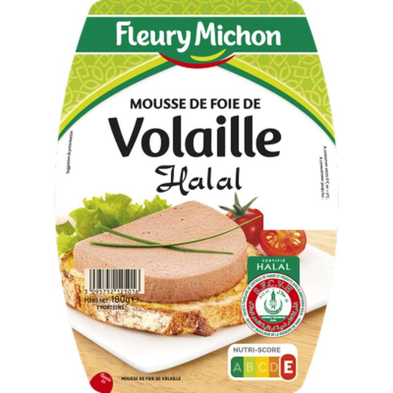 Mousse de foie de volaille Halal, Fleury Michon (180 g)