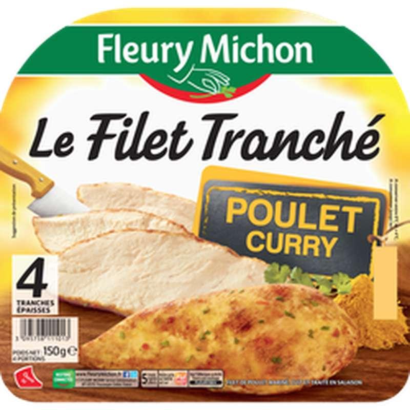Filet tranché de poulet au curry, Fleury Michon (4 tranches, 150 g)