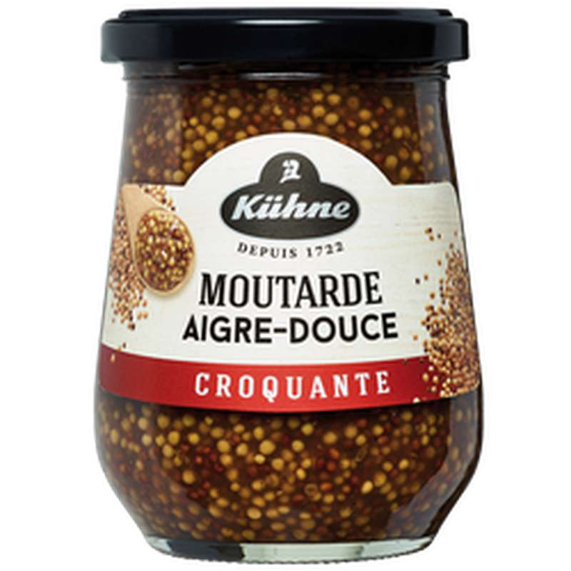 Moutarde aigre douce croquante, Kuhne (250 g)