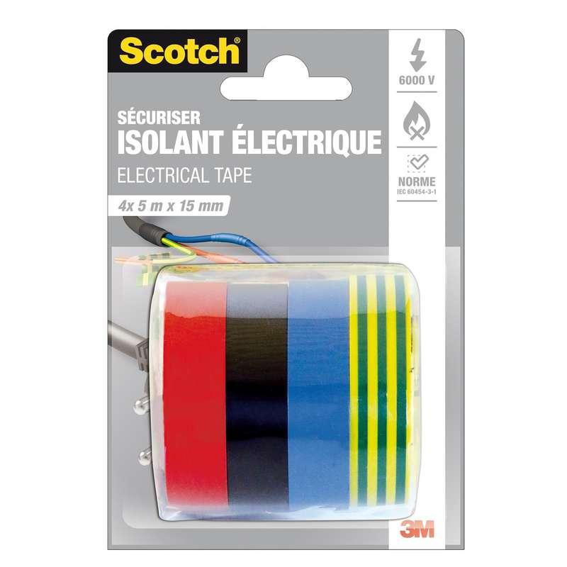 Adhésif isolation électrique, Scotch (5 m x 15 mm)