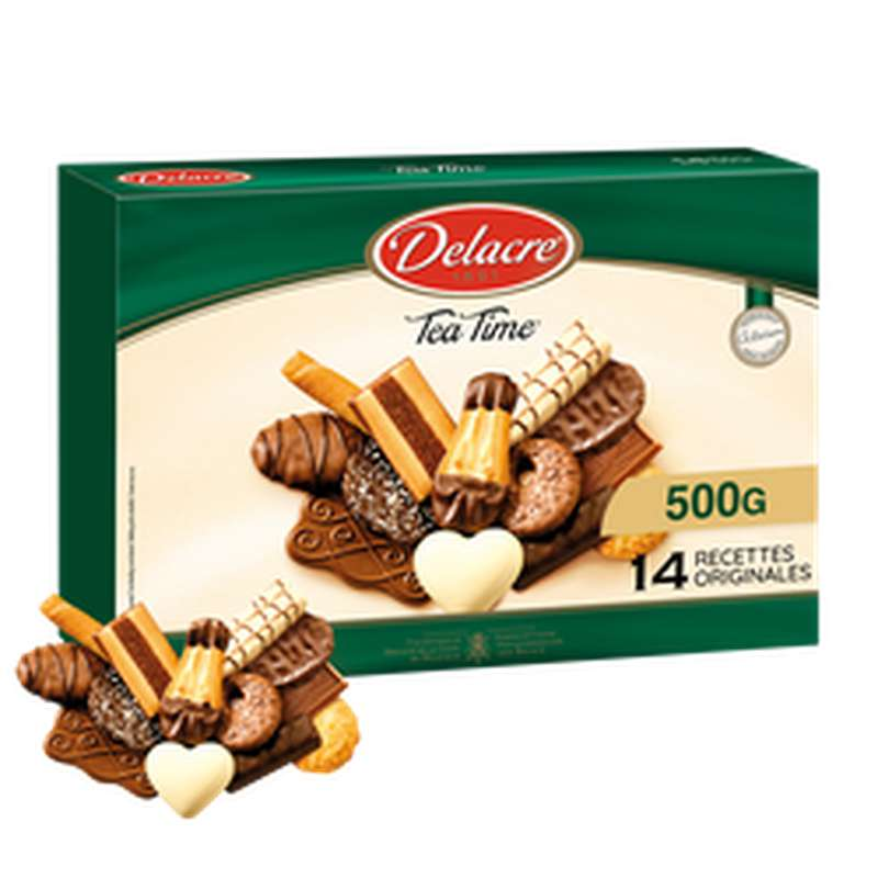 Biscuits tea tine tradition, Delacre (500 g)