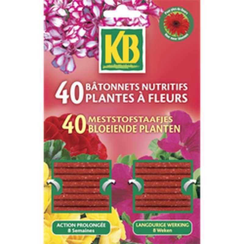 Bâtonnets nutritifs pour plantes à fleurs, KB (x 40)