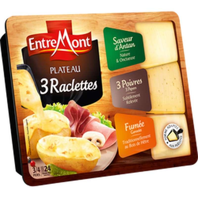 Plateau assortiment raclette triangle 3 saveurs, Entremont (600 g)