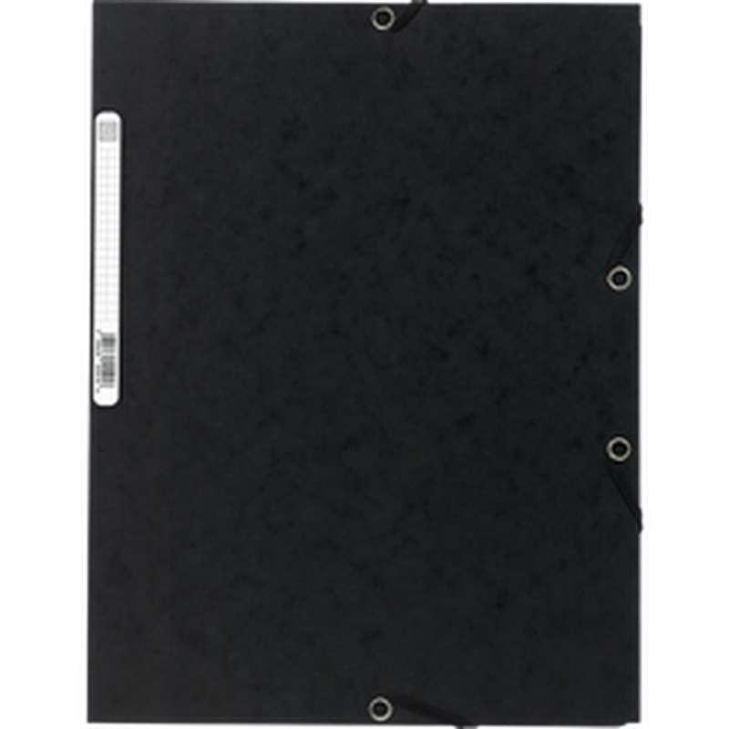 Chemise à élastique 3 rabats 24 x 32 cm noir, ExtraCompta (x 1)