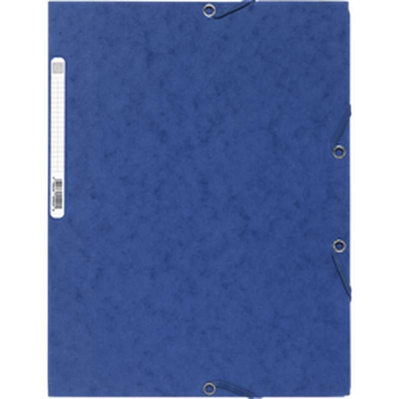 Chemise à élastique 3 rabats 24 x 32 cm bleu, ExtraCompta (x 1)