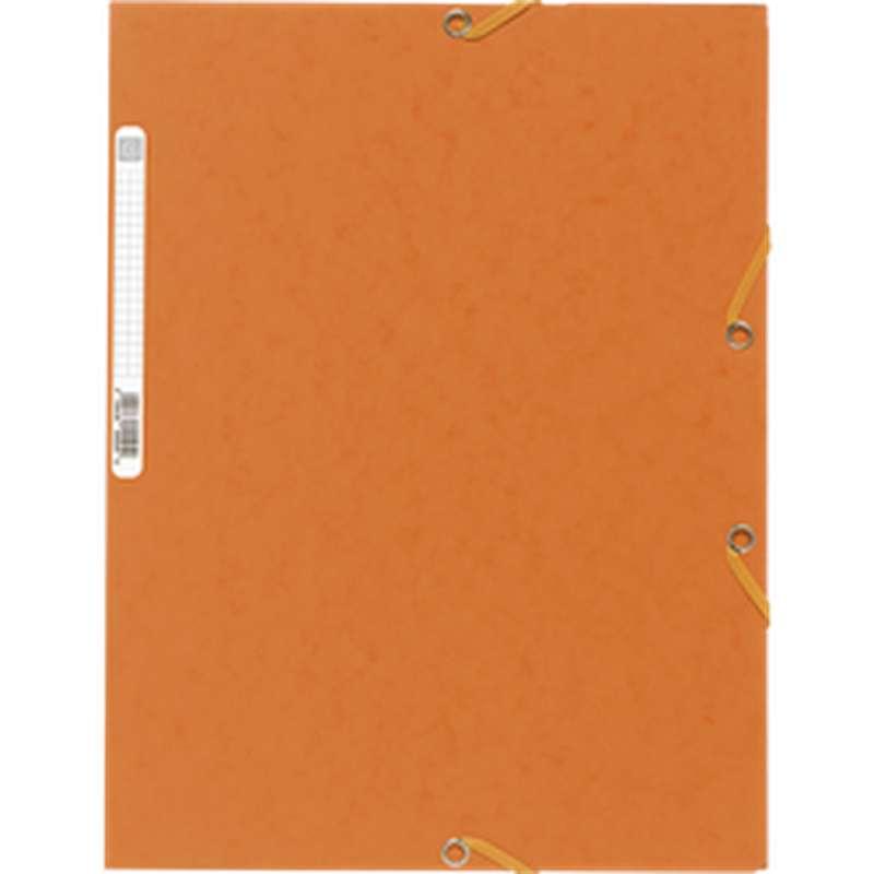 Chemise à élastique 3 rabats 24 x 32 cm orange, ExtraCompta (x 1)