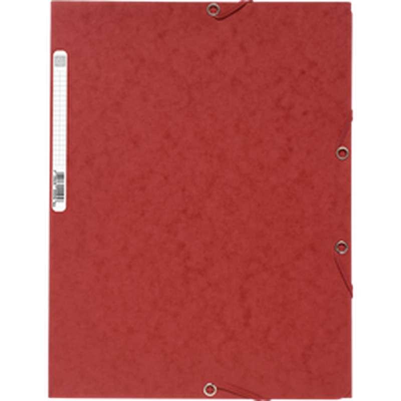 Chemise à élastique 3 rabats 24 x 32 cm rouge, ExtraCompta (x 1)