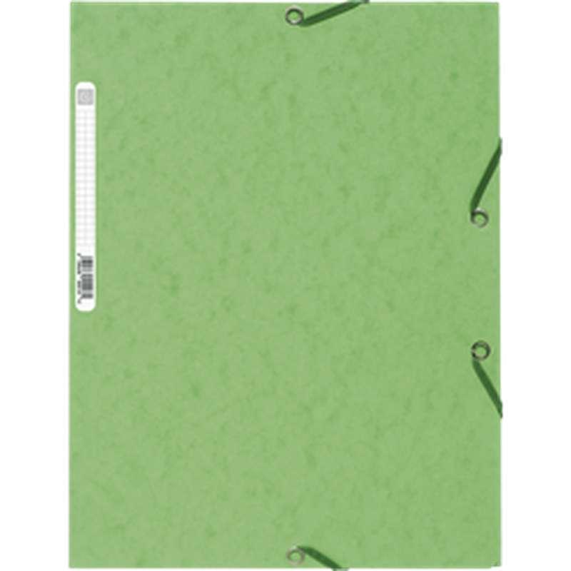Chemise à élastique 3 rabats 23,5 x 12 cm vert tilleul, ExtraCompta (x 1)
