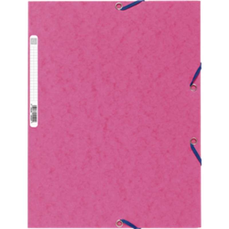 Chemise à élastique 3 rabats 24 x 32 cm rose, ExtraCompta (x 1)
