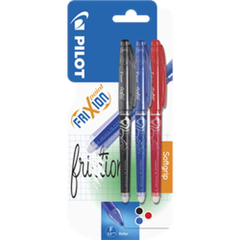 Stylos FriXion écriture fine coloris assortis, Pilot (x 3)