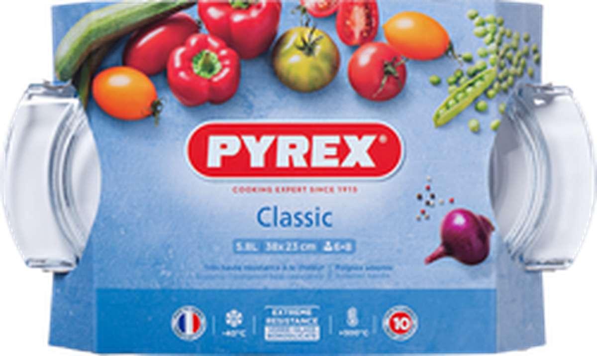 Cocotte ronde en verre, Pyrex (5.8 L)