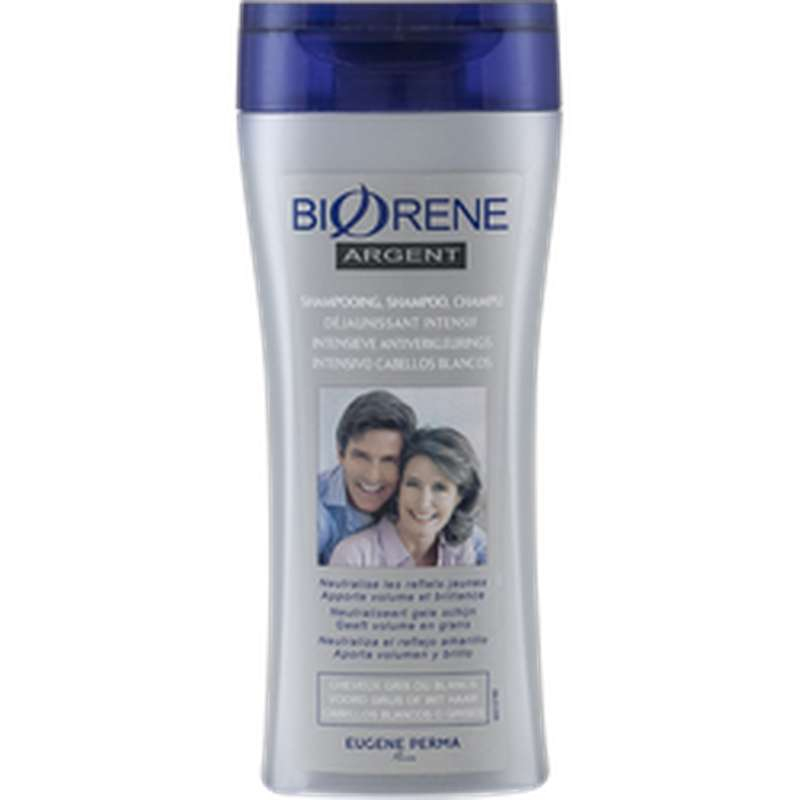 Shampoing déjaunisseur Cheveux gris, Biorene (200 ml)