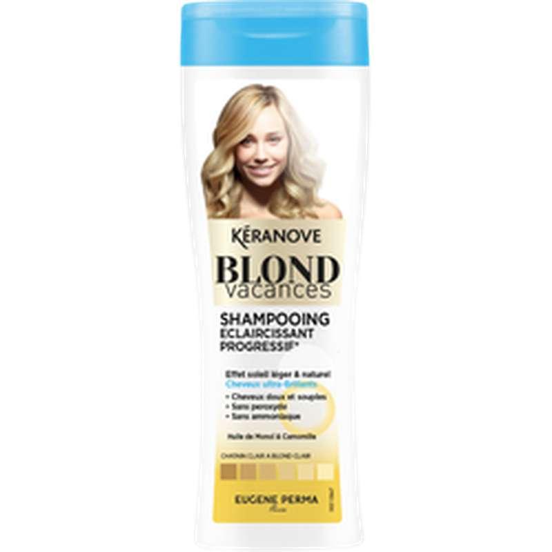 Shampoing éclaircissant progressif blond Vacances, Keranove (250 ml)