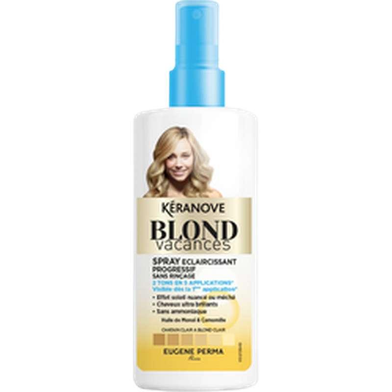 Spray éclaircissant sans rinçage Blond Vacances, Keranove (125 ml)