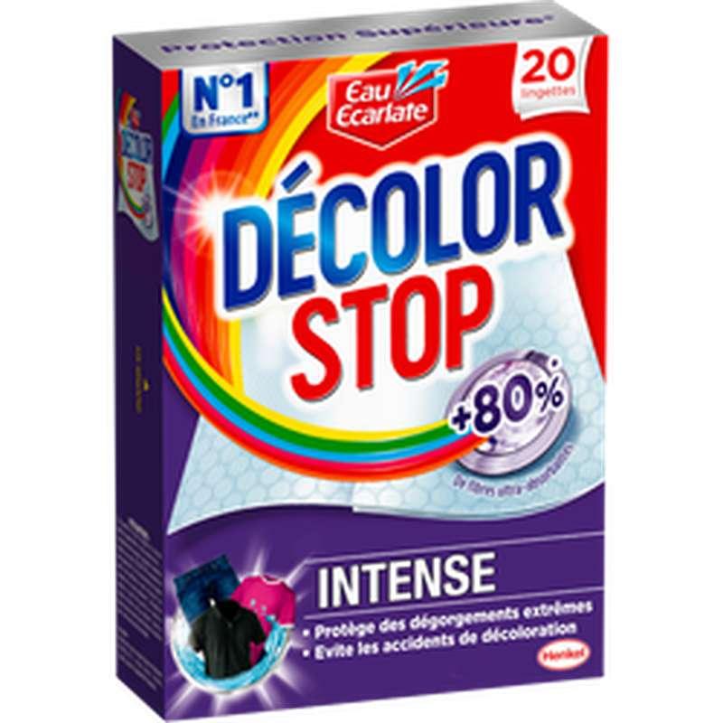 Lingettes décolor Stop Intense, Eau Ecarlate, (x20)