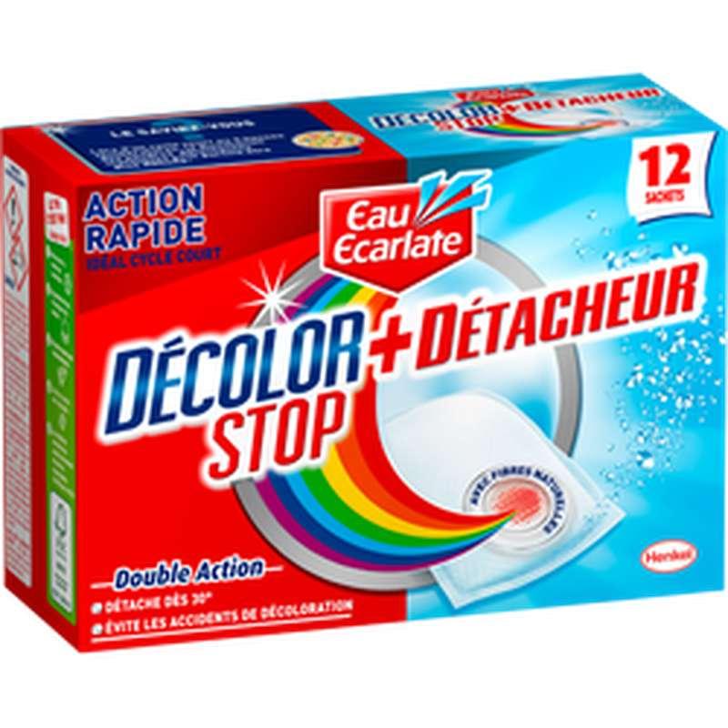 Décolor Stop + Détacheur 2 en 1, Eau Ecarlate (x12, 396g)
