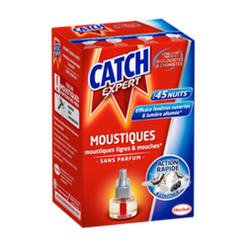 Recharge liquide pour diffuseur électrique anti-moustiques et mouches sans parfum, Raid (45 nuits)