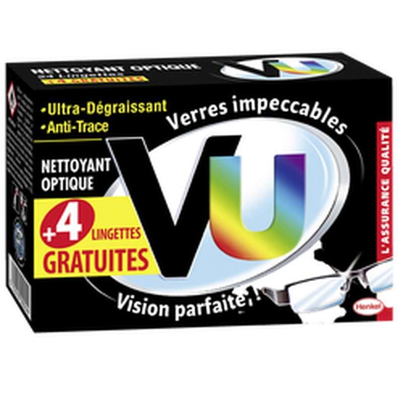 Lingettes nettoyantes pour lunettes, Vu (x 24 + 4 gratuites)