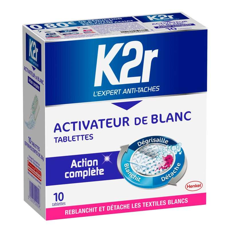 Détachant tablettes spécial blanc, K2R (x 10)