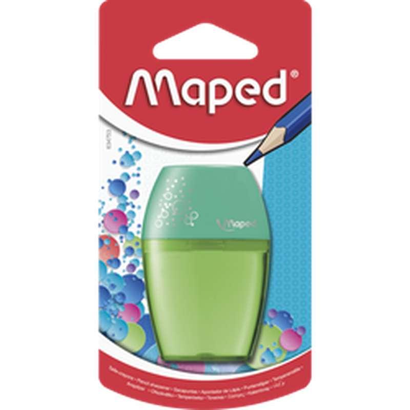 Taille-crayon à réservoir Shaker coloris assortis, Maped (1 trou)