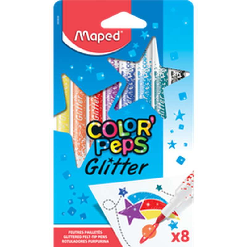 Feutres Color pep's Glitter, Maped (x 8)