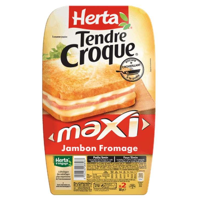 Croque Monsieur Tendre Croc' Maxi jambon fromage, Herta (x 2, 300 g)
