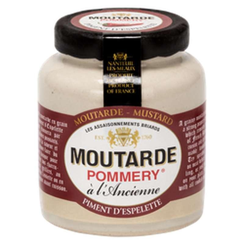 Moutarde à l'ancienne au piment d'espelette, Pommery (100 g)