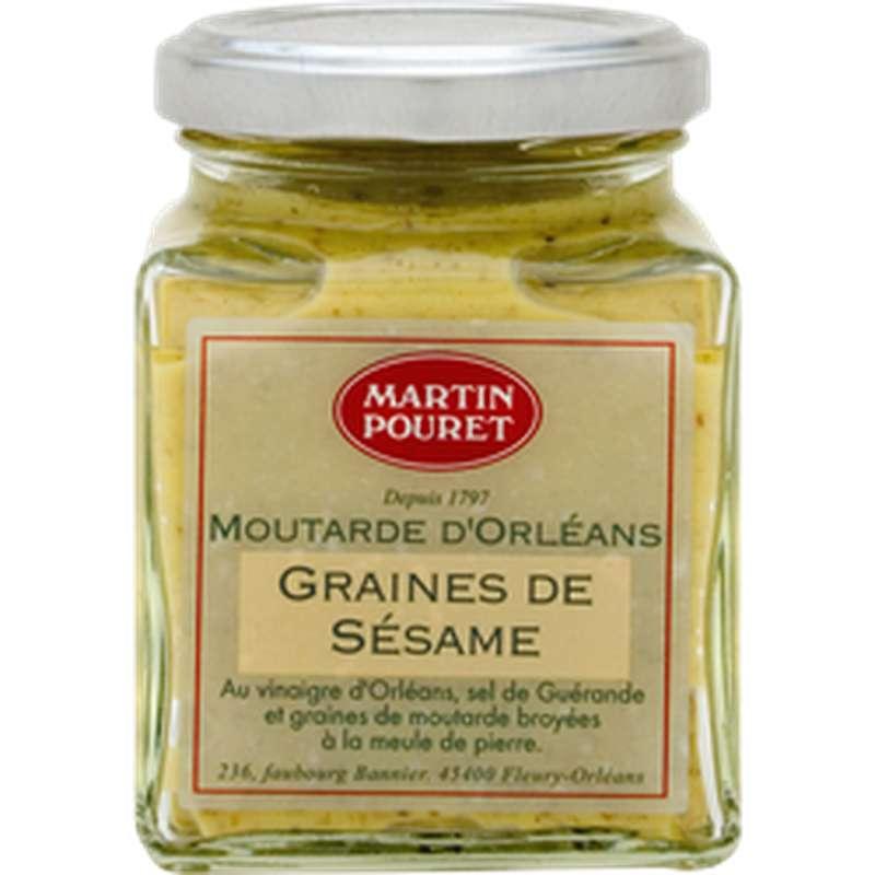 Moutarde d'Orléans aux graines de sésame, Martin Pouret (200 g)