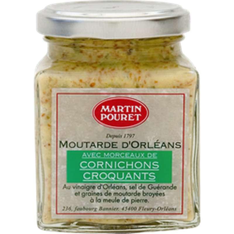 Moutarde d'Orléans avec morceaux de cornichons croquants, Martin Pouret (200 g)