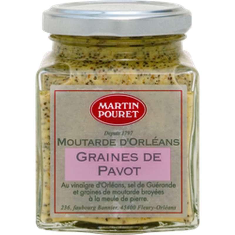 Moutarde d'Orléans aux graines de pavot, Martin Pouret (200 g)