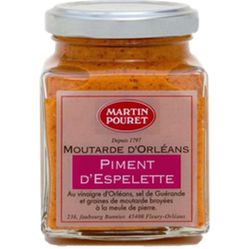 Moutarde d'Orléans au piment d'espelette AOP, Martin Pouret (200 g)